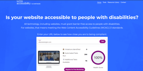 Accessibility report of 100%